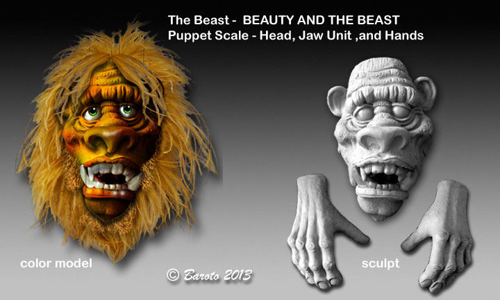 The Beast - Puppet Scale and Hands - Baroto