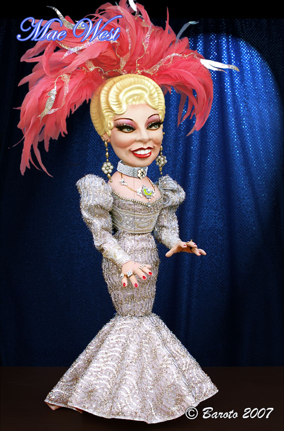 Mae West - Celebrity Caricature Marionette - Michael Baroto  2007
