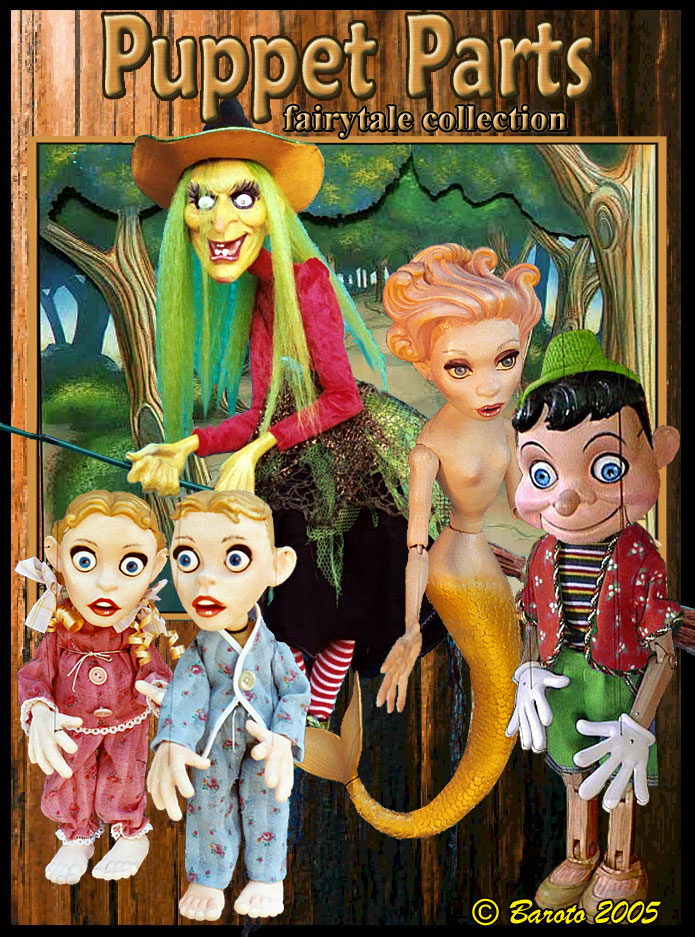 Puppet Parts Fairytale Catalog Color Poster - Michael Baroto 2006