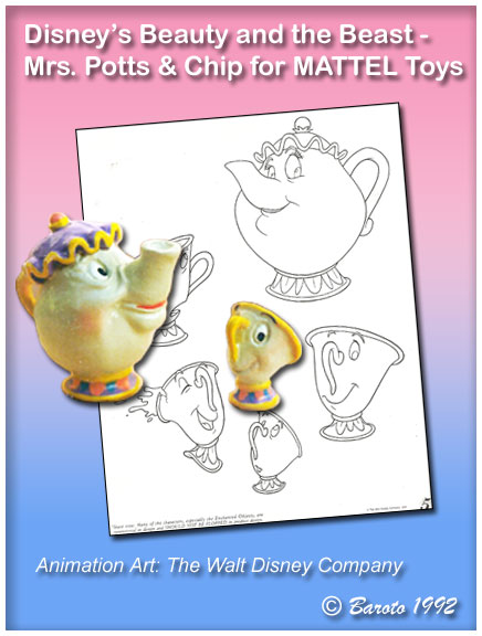 Mrs Potts and Chip Disney Mattel Toys - Baroto
